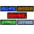 Red,Green,Blue,Yellow,White color USB Rechargeable Battery Programmable Scrolling Led Name Badge