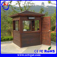 Woodiness art sentry house easy to assemble environment Friendly steel structure guard house