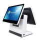 2018 hot sell pos system/pos all in one/Dual touch screen pos terminal