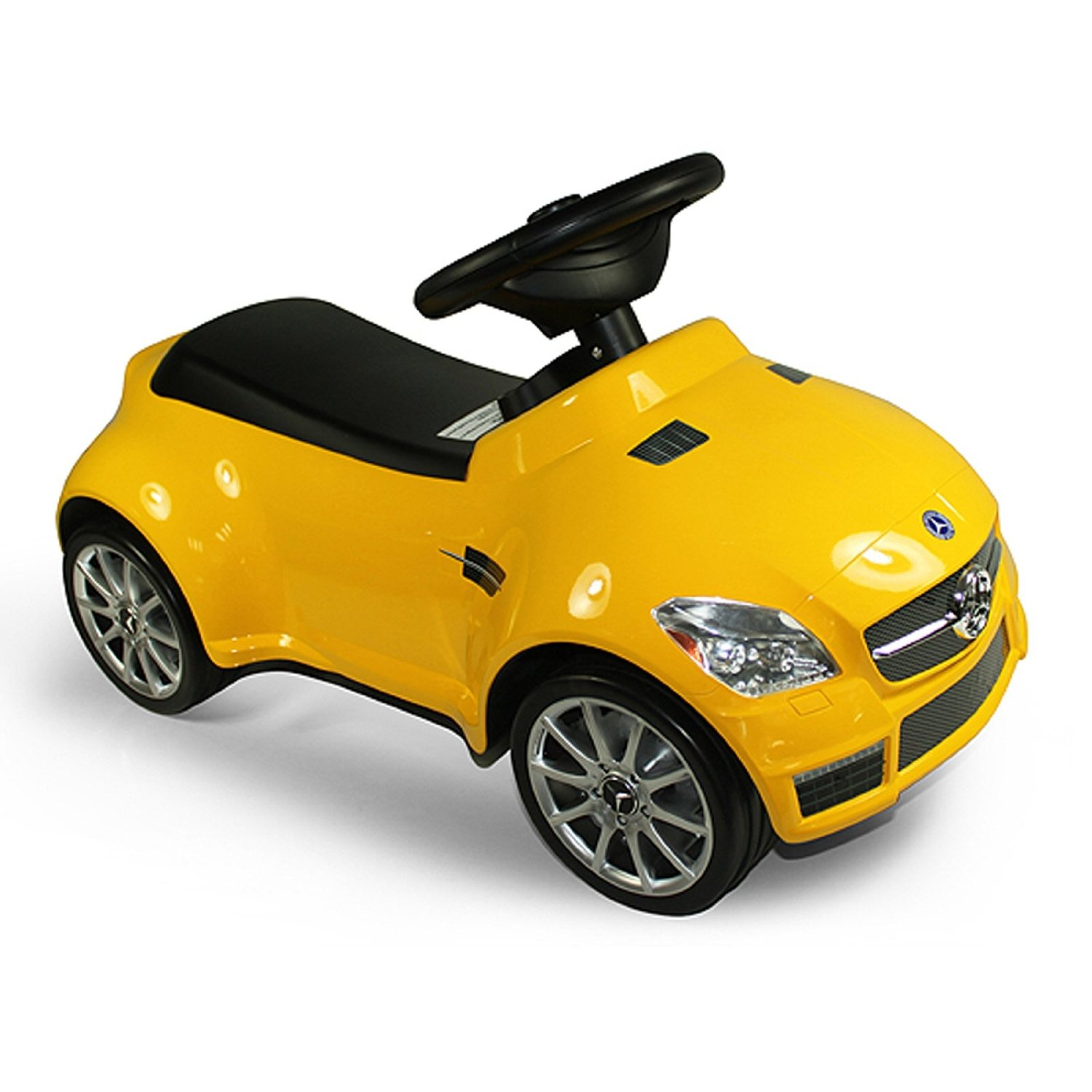 Licensed Mercedes Benz AMG SLK55 Kids Ride On Push Car - Yellow