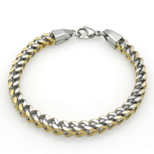 Fashion Punk Style Stainless Steel Mens Bracelet Classical Biker Bicycle Metal 7MM Gold/Silver Chain Jewelry Bracelets For Men