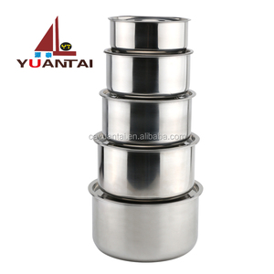 Wholesale new products cheap 410 stainless steel cooking pot cookware set biryani cooking pot with lid