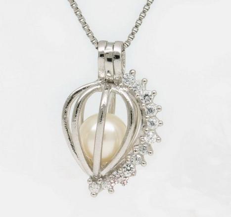 2019 18kgp Fashion Love Wish Pearl Gem Beads Locket Cages