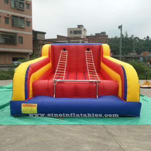 Kids N Adults Commercial Inflatable Jacob's Ladder for Climb Games with Detachable Steel frame supported