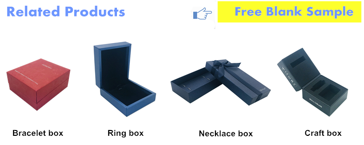 Magnetic small leather empty custom made plastic ring bracelet jewelry cardboard packaging box