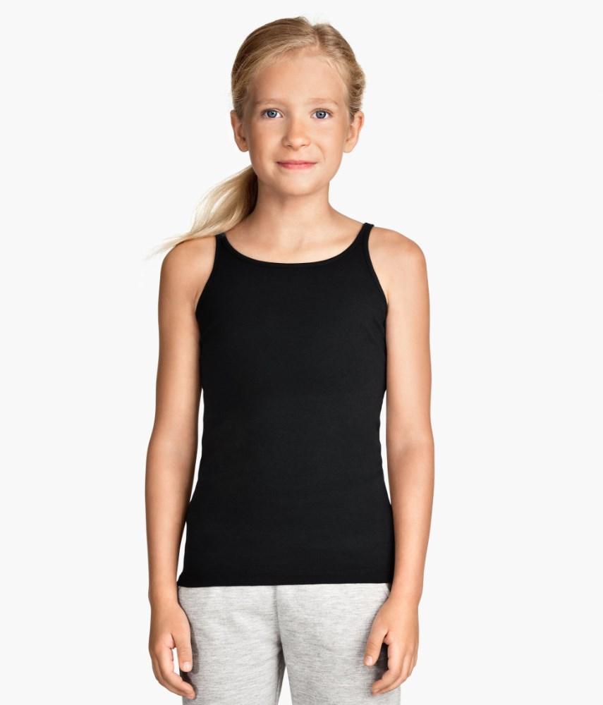Jersey Girls Black 100 Cotton Tank Top - Buy 100 Cotton Tank Top,Girls ...