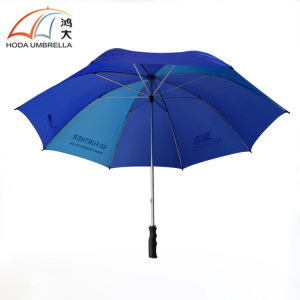 27 Inches Auto Open Windproof Logo Printed Golf Umbrella