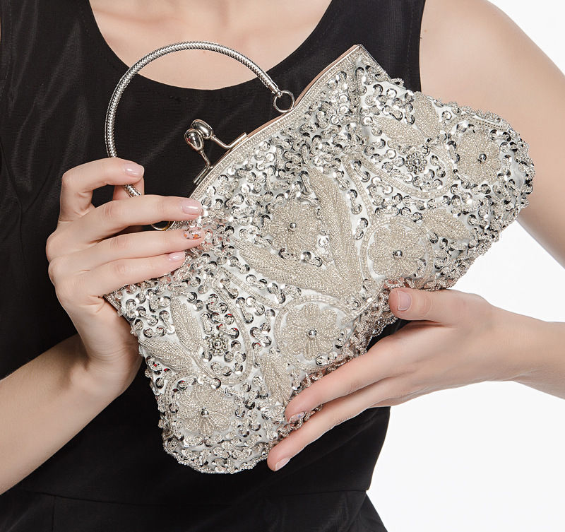 C58594S Hot-selling Elegant lady Classical Beaded Evening Bag