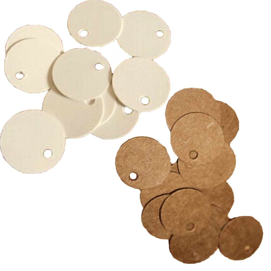 online get cheap paper circle com alibaba group shipping new 10pcs set circle shaped kraft paper gift tags wedding doorplate scallop label