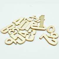 Art minds numbers wooden die cut unfinished wood shapes for scrapbooking