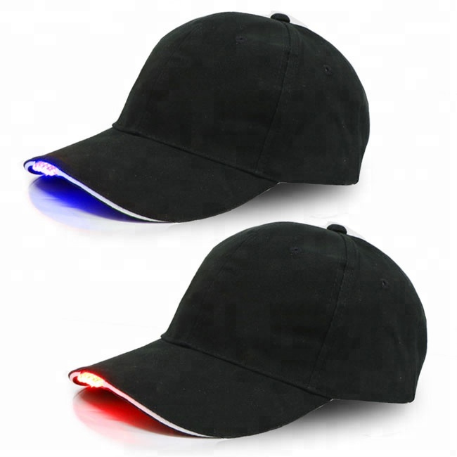 852037ffdeb Fitted Baseball Cap With Led Lights