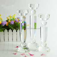 Special offer European romantic crystal glass candle holder for home decoration