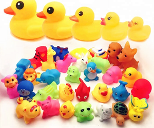 Custom floating PVC bathl toys wholesale kids toys baby bath yellow duck toys