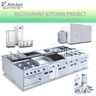Italian Restaurant Commercial Kitchen Equipment with Installation and Design Service from guangzhou