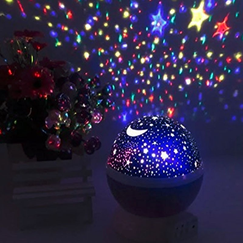 New Generation Sun And Star Lighting Lamp 4 Led Projector Starry Moon Sky Night Light Stars Constellation Automatic
