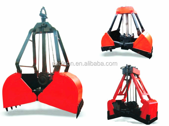Nucleon 3m3 5m3 Grab Bucket For Crane - Buy Grab Bucket,Clamshell Grab  Bucket,Clamshell Bucket For Sale Product on Alibaba com