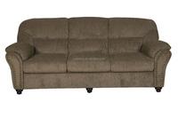 classic design livingroom 3 SEATER SAGE COLOR CHENILLE FABRIC SOFA