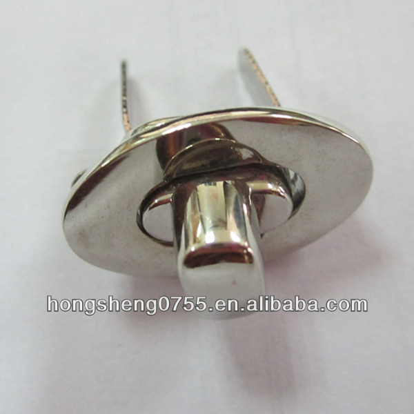 Small Metal Lock For Ladies Hand Bag With Silver Color