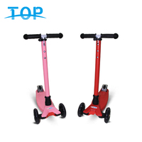 Easy using 3 wheel kick scooter kids stand up scooter with flashing wheel