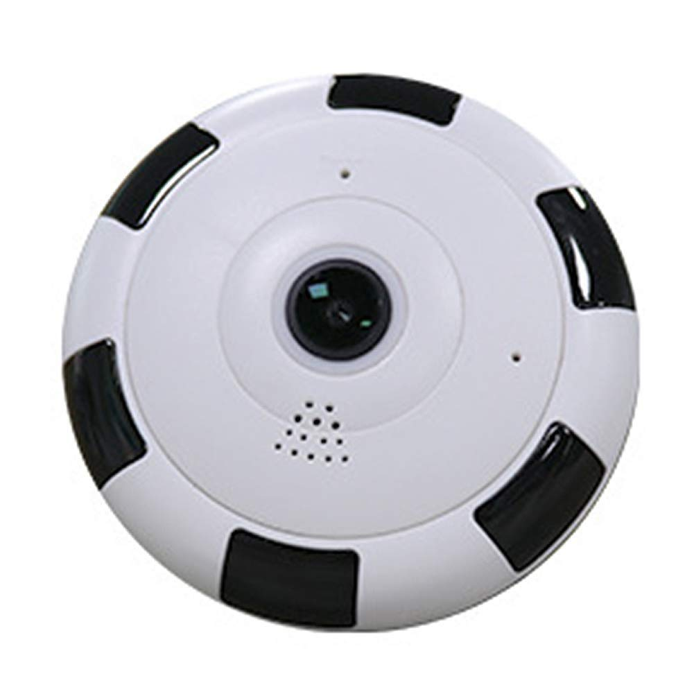 WiFi IP Camera,360 Degree Panoramic HD Camera,Wireless IP Home Security Camera,Motion Detection,Built-in Hotspot,Wireless Network Night Vision,Home Security Surveillance Monitor(White 130W Pixel)