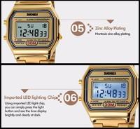 Man Stainless Steel Back Waterproof Led Watch Date Sports Bracelet ...
