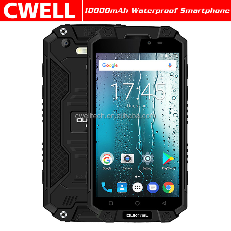 OUKITEL K10000 <strong>Max</strong> 5.5 Inch FHD Screen 10000mAh Big Battery Android 7.0 IP68 Waterproof mobile phone