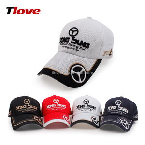 Promotional colorful custom 100% polyester high quality outdoor 6 panel city baseball caps 3D embroidery sports cap running hat