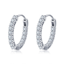 Grosir Fashion Wanita Perhiasan <span class=keywords><strong>Perak</strong></span> <span class=keywords><strong>925</strong></span> Cz Lingkaran Huggie Earrings