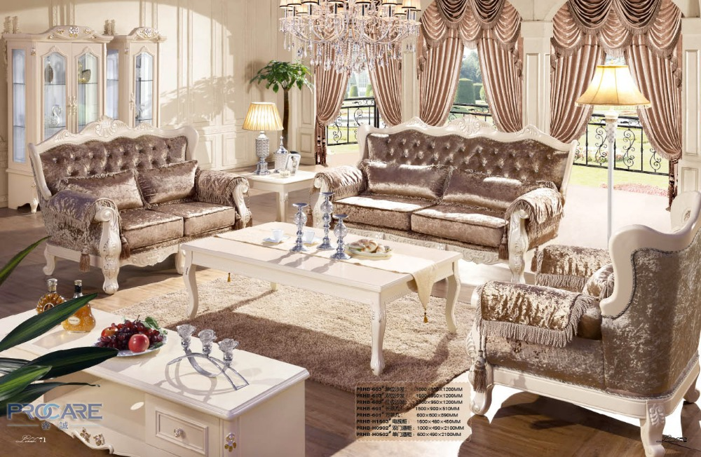 European Style Brown Armchair Sofa Set Living Room Furniture Modern Fabric Couch Prices China
