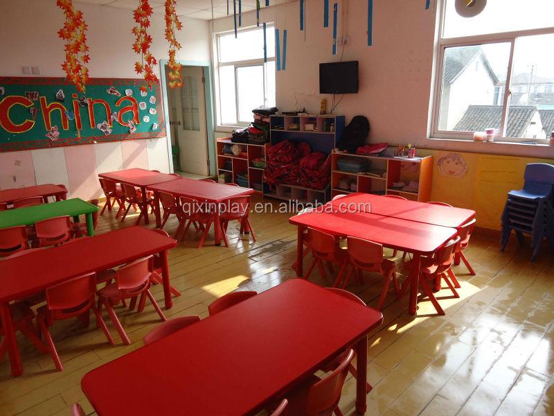 Guangzhou Kindergarten Furniture Used Free Daycare Children Furniture  Kindergarten Tables And Chairs For Preschool QX