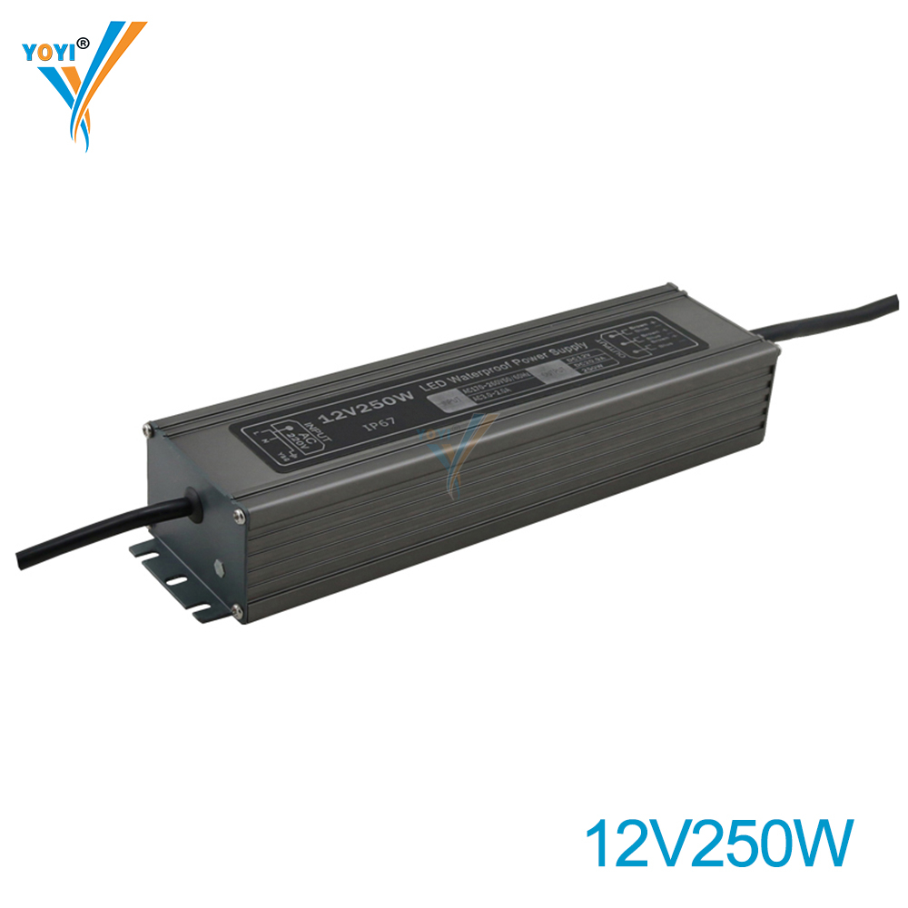 250W 21A 12V Special Ultrathin Waterproof Power <strong>Supply</strong> IP67 for Underwater Square Street Lamp Fountain and Scenic Spot LED Drive
