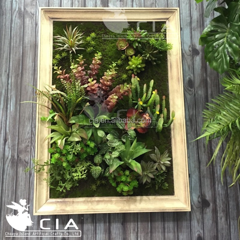 3d Artificial Plant Wall Art,Wood Framed Artificial Plant ...