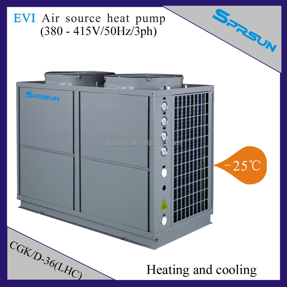 Nordic Cold Temperature Evi Air Source Heat Pump To Water House ...