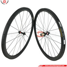 Super Light 700C carbon wheelset 38mm Road Bicycle Wheels Tubular 25mm Wide