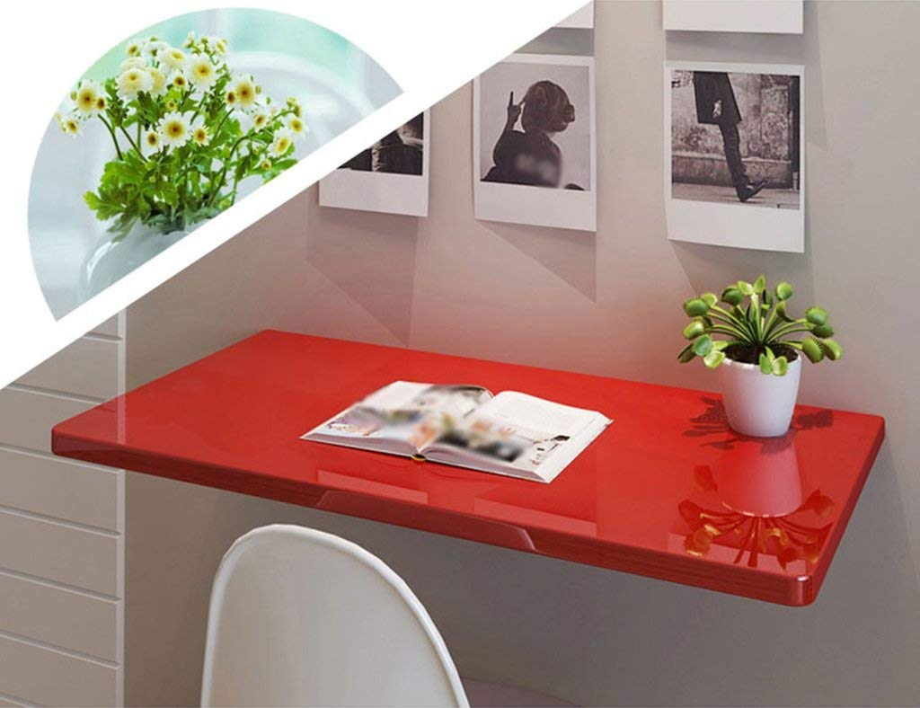 Mmdp Computer Desk Learning Table Wall-mounted Laptop Desk Paint Foldable Dining Table Office Table Size Optional (Size : 7040cm)
