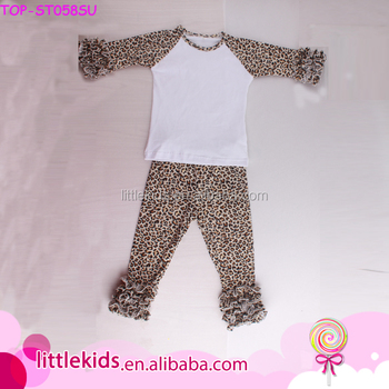 Hot Sale Baby Wear Clothing Set Back To School Children Leopard