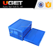 Unique patent design plastic material folding storage crate for sale