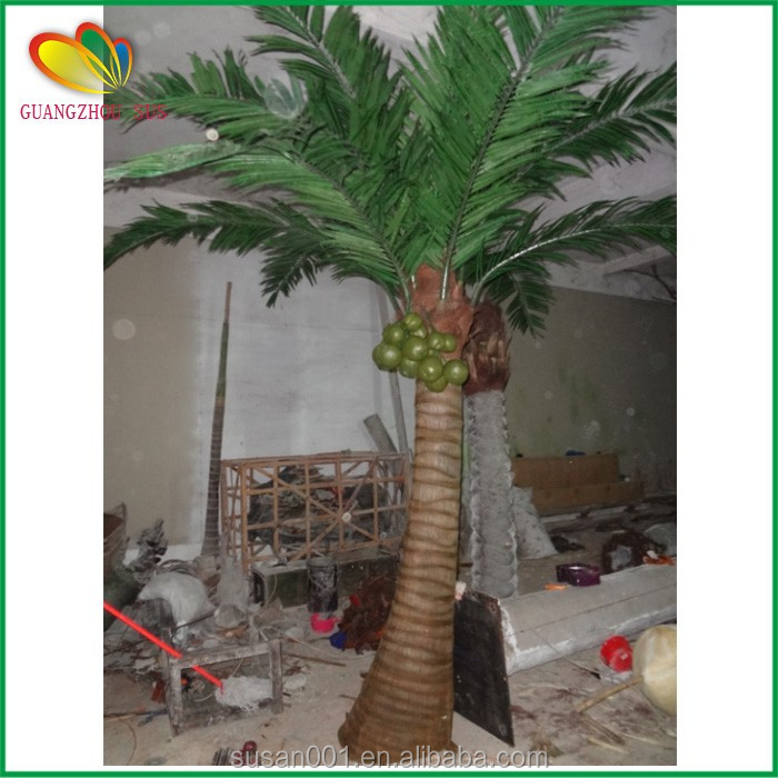 Wholesale artificial coconut tree fiberglass artificial palm tree large outdoor decor artificial coconut tree