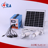 Portable mini lighting with solar system kits 6w for home