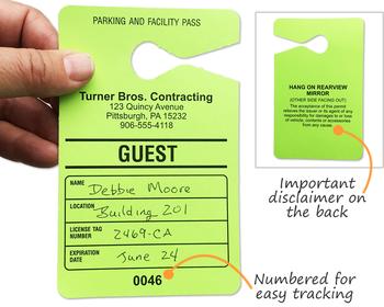 hanging parking permit template free - todo color permiso de estacionamiento etiquetas colgantes
