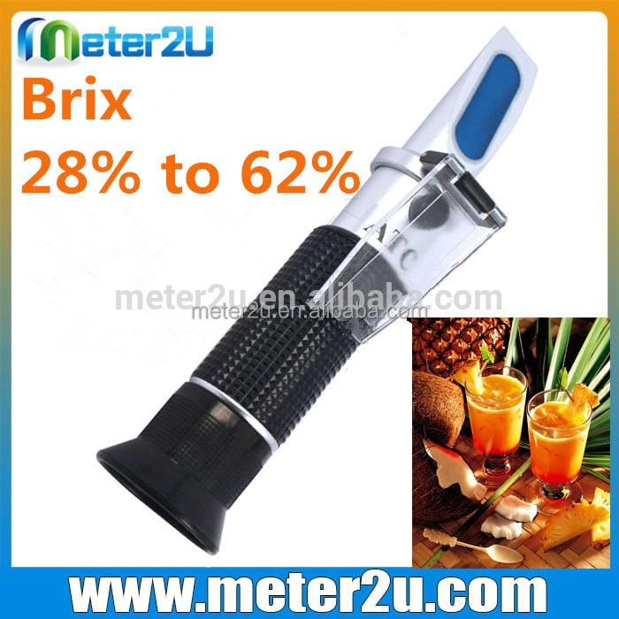 brix 28% to 62% fruit juice refractometer sugar testers RHB-62ATC