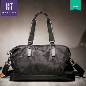 bd5bbb47fc2e Hautton бренд моды подлинной лучших телячья кожа багажа дорожные сумки Топ  продаж классические мужские деловые сумки