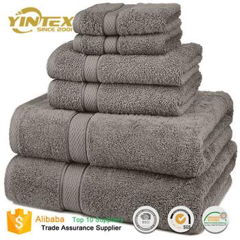 Hot Sale 6 Piece Luxury Combed Cotton Bath Towel Set Buy Bath Towel Sets Cotton Bath Towel Combed Cotton Product On