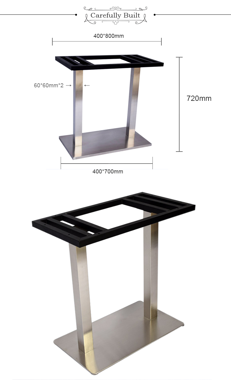 Top Selling Best Price Heavy Industrial Metal Coffee Table Base Stainless Steel Table Leg For Dining Table
