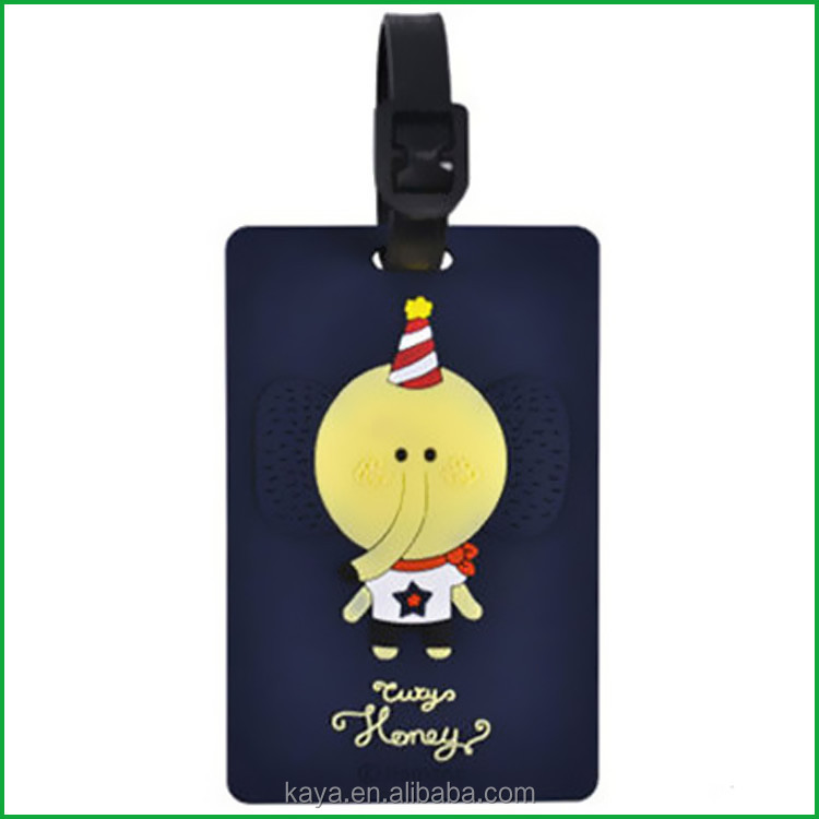 Custom eco-friendly rubber name luggage tag with reguler size