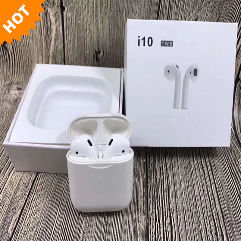 New arrival i10 TWS Sensor Switch Touch Control Wireless Earbuds Support Wireless Charging фото