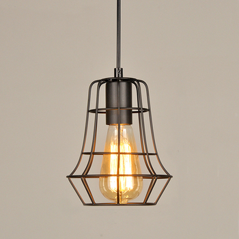 Restaurant mini cage modern hanging pendant lamp zhongshan wholesale cheap industrial vintage kitchen pendant light