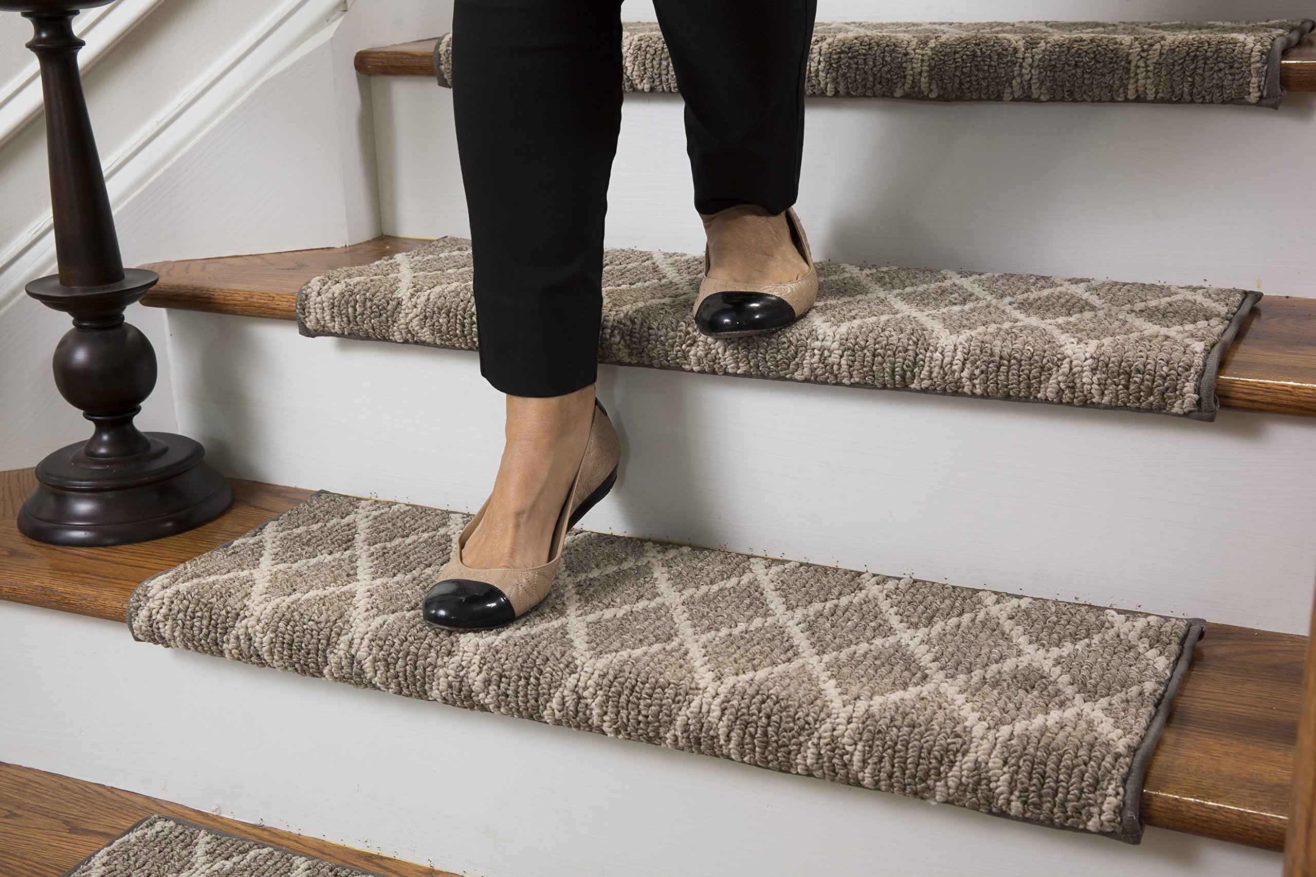 Beau Get Quotations · Jardin Wool Inspired Bullnose Carpet Stair Tread With  Adhesive Padding   Fontainebleau, By Tread Comfort