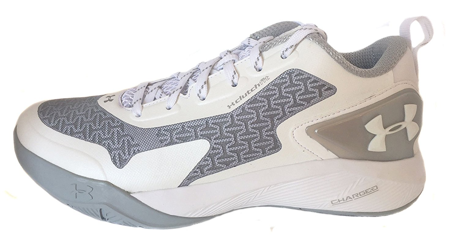 promo code b4f66 138fe Under Armour Clutchfit Drive 2 Low Sz 8 Basketball White-White-Metallic  Silver Shoes