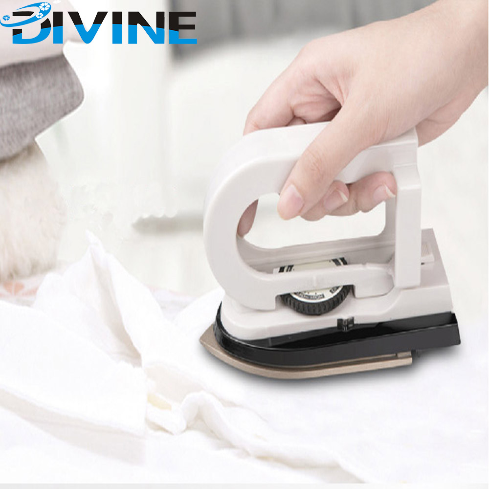 Dual Voltage Easy to Carry Mini Electric 3 Temperature Regulation White travel <strong>iron</strong> portable